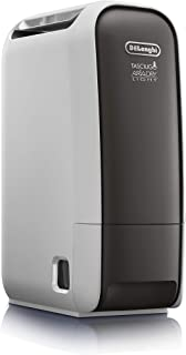 De'Longhi Tasciugo AriaDry Light DNS65 Deshumidificador Ionizador, Depósito 2.8 L, Capacidad de Extracción 6 L/d, Filtro Antipolvo, Función Secado de Ropa, Silencioso, Compacto, Blanco