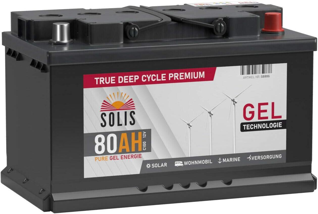 SOLIS Gel Batterie 9AH 9V Solar Boot Wohnmobil Schiff Versorgungs Mover  Akku (9AH 9V)