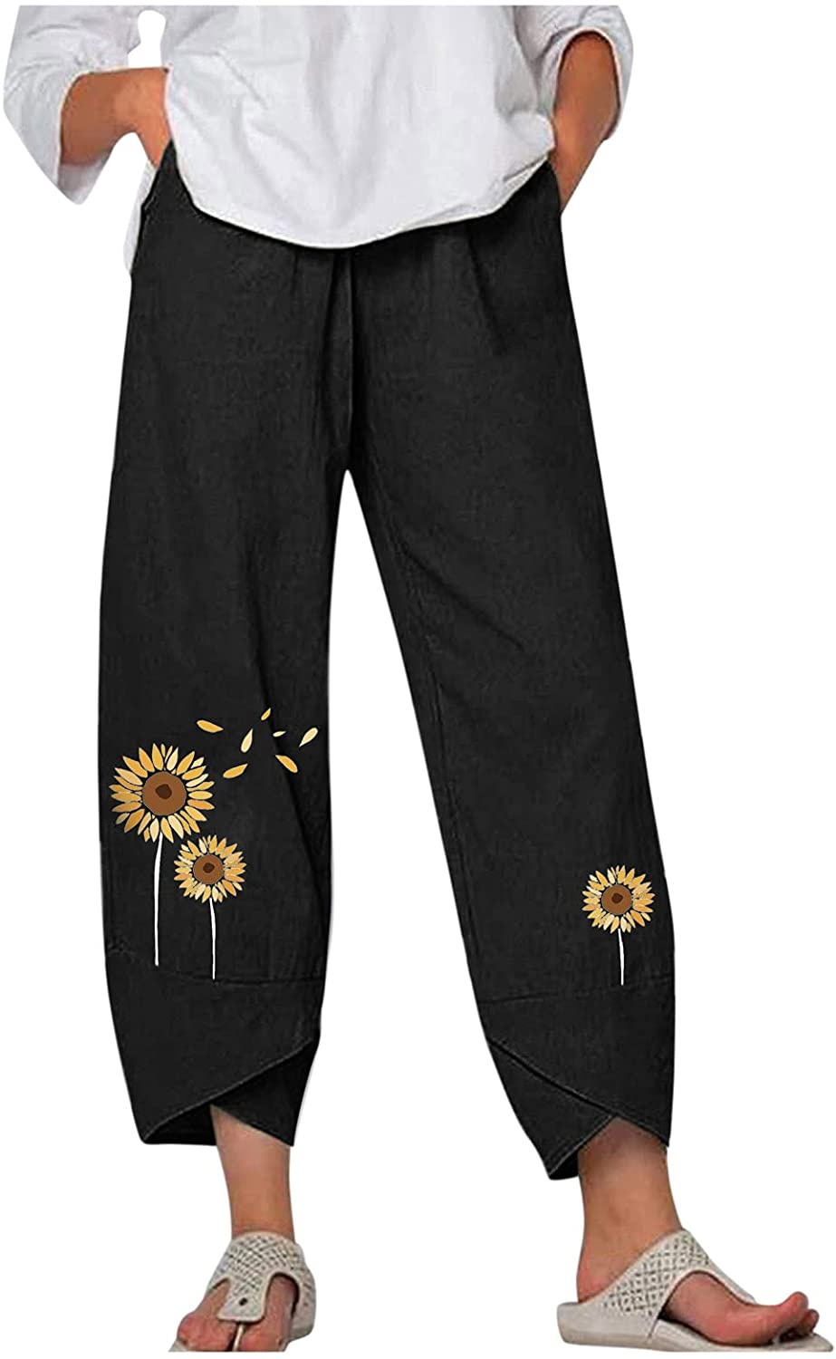 Wabtum Summer Pants for Free Shipping Cheap Bargain Import Gift Women Cotton Casual Floral Print Women's