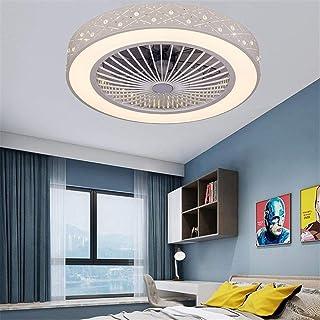 FJUAN Lámpara de Techo Ventilador de Techo con iluminación LED y la Tranquilidad de Control Remoto Ventilador de Techo Invisible Creativas Aficionados Iluminación de la Sala de Estar Dormitorio