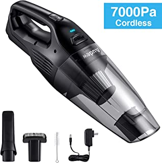 Audew Handheld Vacuum Cordless, (2nd Gen) Home Hand Vac, 7000PA Hand Vacuum Cleaner, Portable Hand Vac Powerful Suction Rechargeable Vacuum for Home Pet Hair Car Cleaning