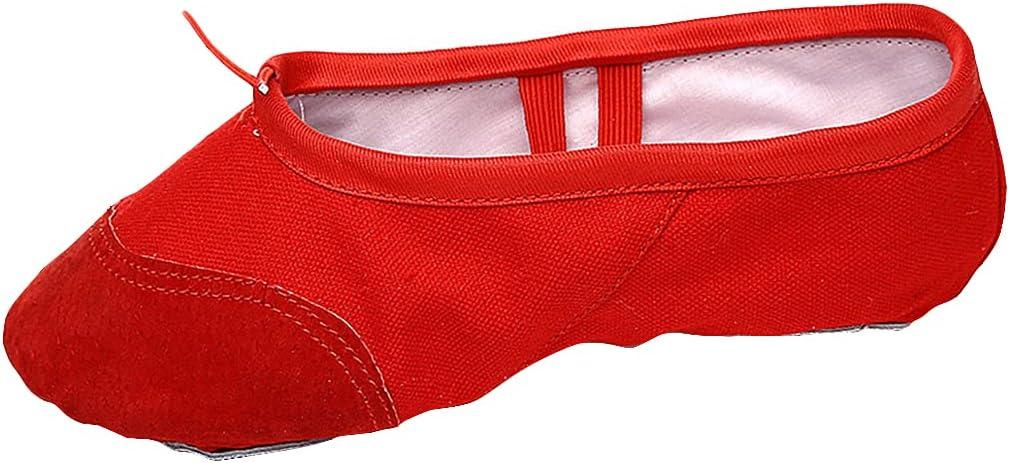 Lnrueg Ballet Shoes Split Sole Nonslip Dancing Shoes Gymnastic Slippers Ballet Slipper for Girls Yoga Latin Jazz Modern