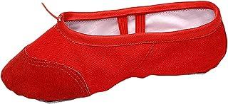 Licogel バレエシューズスプリットソール滑り止めソフトダンスシューズ女の子のための体操スリッパ現代的な居心地の良いシンプルな洗える