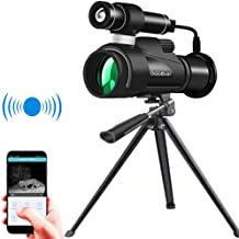 OsxoBear Night Vision Monocular with WiFi and APP Function,Infrared Night Vision Telescope with External Powerful Infrared...
