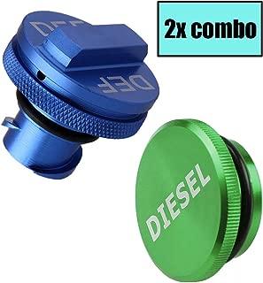 Yuzlder Magnetic Diesel Fuel Cap & DEF Cap for Dodge RAM Trucks (2013-2018) Dodge Ram Diesel Trucks 1500 2500 3500 The Original Lightweight Design