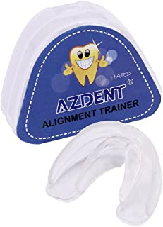 AZDENT Updated Dental Mouth Guard Orthodontic Appliance Tooth Alignment Trainer Retainer Hard 1 PC(White)