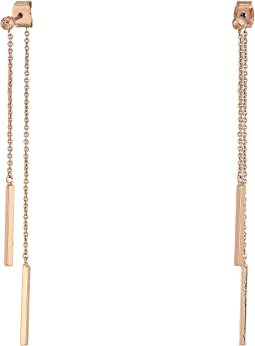 LAUREN Ralph Lauren - Minimal Metal Smooth Bar Threader Earrings