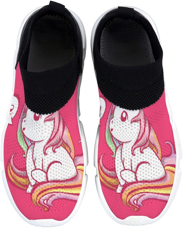 DREA Women Classic Walking shoes Breathable Sports shoes Casual Sneakers Cute Unicorn shoes