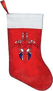 British Flag Soccer Sea Turtle Christmas Stockings Holders Gift Bag
