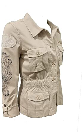 Aeronautica Militare Chaqueta blazer de mujer AB1854D, arena ...