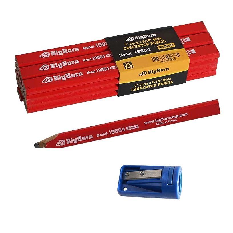 Big Horn 19850 Carpenter's Pencil Sharpener & 7