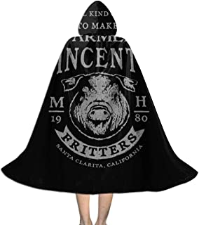 Farmer Vincents Fritters Motel Hell Unisex Hooded Cloak Cape Halloween Party Decoration Role Cosplay Costumes Black