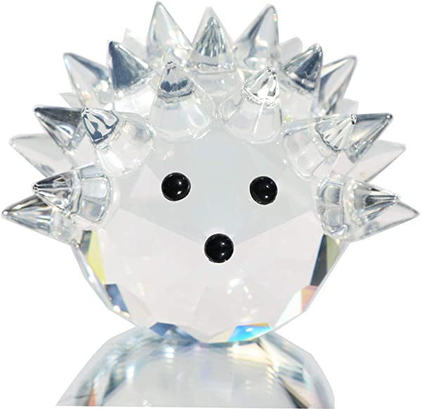Waltz F Clear Crystal Hedgehog Collectible Figurine Mini Animal Statue