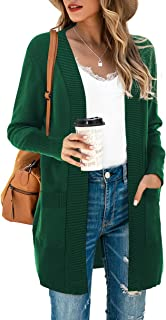 Women's Open Front Casual Long Sleeve Knit Classic...