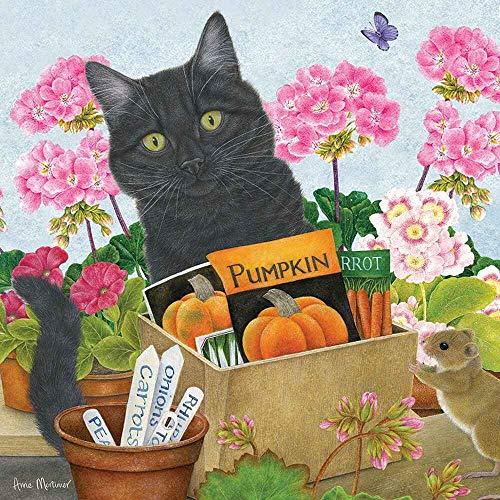 SILOLA Rompecabezas Cuadrado Otter House Gift - Gato Negro '