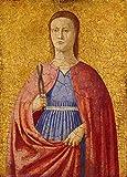 JH Lacrocon Piero Della Francesca - Santa Apolonia Reproducción Cuadro sobre Lienzo Enrollado 65X90 cm - Pinturas Renacimiento Italiano Impresións Decoración Muro