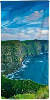 fotobar!style Duschduk 70 x 140 cm längtan Irland – Cliffs of Moher in County Clare är ett av de mest grandiosaste natursp...