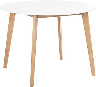 COMIFORT Mesa de Comedor o Cocina - Diseño Nordico y Patas de Madera de Haya. Mesa Alta para Salon de Estilo Moderno y Fun...
