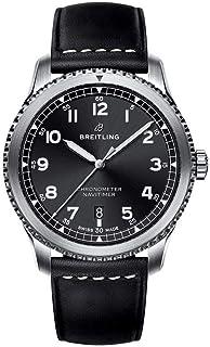 Breitling - Hombre A1731410-BG68-489X 'Navitimer' reloj de cuero negro