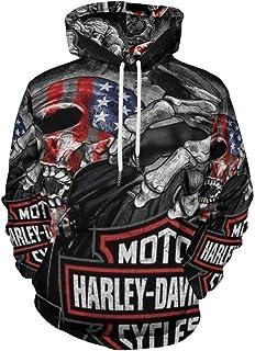 Harley Davidson Felpa con cappuccio a maniche lunghe con cappuccio e tasca con cappuccio casual caldo