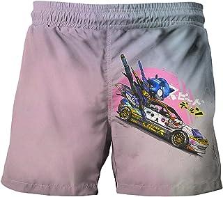 Amacigana® Sonic swimming trunks, 3D printed swimming shorts, beach shorts, surf swimming trunks, sports shorts, running b...