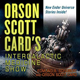 Orson Scott Card's Intergalactic Medicine Show                   By:                                                                                                                                 Orson Scott Card,                                                                                        David Farland,                                                                                        Tim Pratt,                   and others                          Narrated by:                                                                                                                                 J. Paul Boehmer,                                                                                        Cassandra Campbell,                                                                                        Emily Janice Card,                   and others                 Length: 12 hrs and 15 mins     318 ratings     Overall 4.1