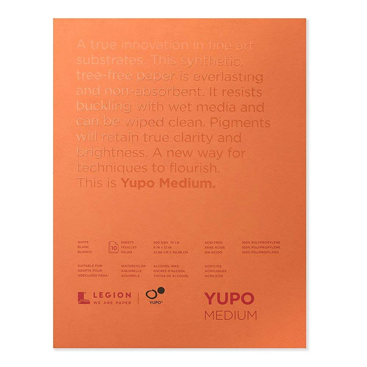 Yupo Paper L21-YUP197W912 White Sheets (10 Pack), 9
