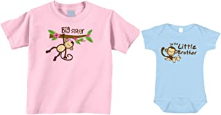 Little Brother Sister/Big Brother Sister Monkey Bodysuit and T-Shirts