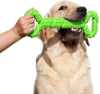 Hipat Dog Chew Toy for Aggressive Chewers, 13 Inch Large Solid Rubber Chew Toy with Soft Massaging Surface for Tooth Clean...