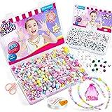 WuikerDuo Niños Bricolaje Conjunto de Cuentas,Niños DIY Set de Perlas Kit de fabricación de Cuentas para Bricolaje joyería para niños, Pulsera