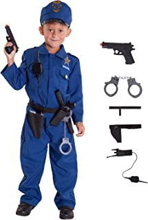 Morph Boys Policeman Costume, Includes 5 Accessories, Dress Up and Have Fun.