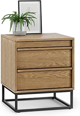 L3 Home Averi 2 Drawer Bedside Table, Natural Oak