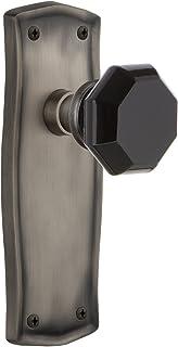 Nostalgic Warehouse 724899 Prairie Plate Privacy Waldorf Black Door Knob in Antique Pewter, 2.375