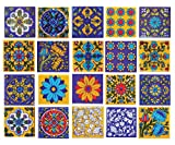 Items:- Ceramic Tiles, Material: Ceramic, Size : 2 X 2 Inch, Color :Blue, Yellow base on Multi, 20 Tiles of Set. This Tile Stick Cement on the Wall, Gum/ Glue on the Furniture & Aerolite on the Iron, Easy to Washable this Tile Anytime, You Can Apply....