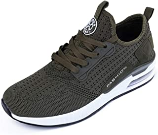 AUCDK Couple Casual Sports Shoes Solid Color Comfort Mesh Fabric Sneakers with Cushioned Heel Unisex Running Training Shoes