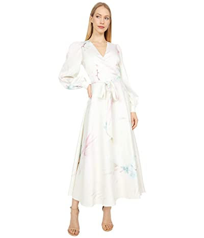 Ted Baker Flosssi Floral Wrap Long Sleeve Midi Dress Women