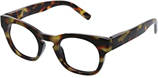 Peepers by PeeperSpecs Women's Nordic Noir Focus Non Polarized Square Blue Light Filtering Reading Glasses, Tortoise, 46 m...