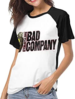 Bad Company Womens 3D Print Baseball T Shirt Art Pattern Raglan tee Top Shirt