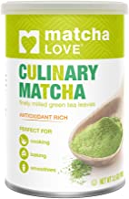 Matcha Love Culinary Matcha 3.5 Ounce Finely Milled Green Tea Leaves, Japanese Style Matcha Powder, Antioxidant Rich, Good Source of Vitamin C