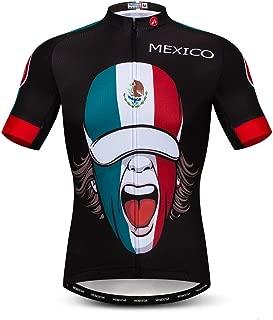 Weimomonkey Men's Cycling Jerseys Tops Biking Shirts Short Sleeve Full Zipper Bike Clothing