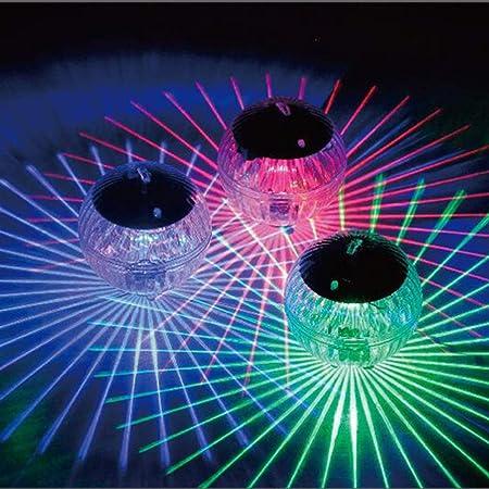 Uonlytech Solar Powered Water Float Light Pond Floating Light Magic Ball Light Garden Decoration Light Pool Light (Colorful Light)