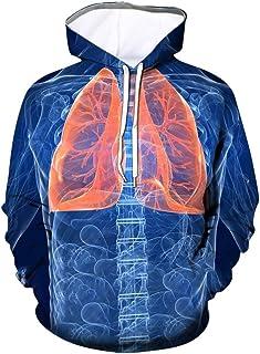 Ackful Men Novelty Haslet Funny 3D Print Long Sleeve Hoodie Sweatshirt Pullover Tops