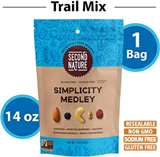 Second Nature Simplicity Medley Trail Mix - Healthy Nuts Snack Blend - 14 oz Resealable Pouch