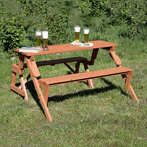 Metra Holzbank Tisch Bild