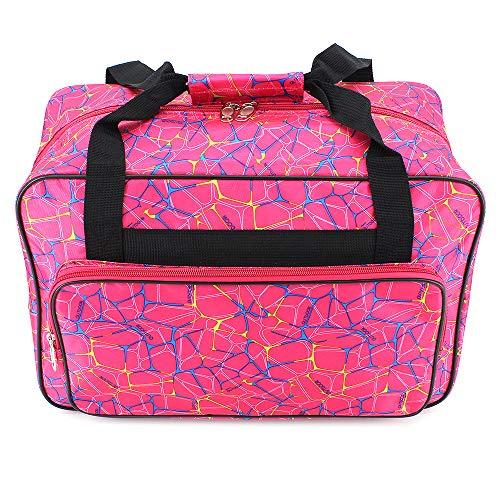 ShawFly - Bolsa de transporte para máquina de coser, gran capacidad, deportiva, para entrenamiento y limpieza, bolsa universal de nailon, con bolsillos y asas