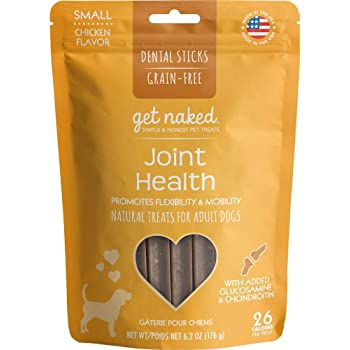 Get Naked Grain Free 1 Pouch 6.2 Oz Joint Health Dental Chew Sticks, Small