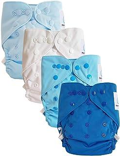Lot de 4 couches lavables TE2 /à doubles goussets Sweet Cloud Maman et bb Nature