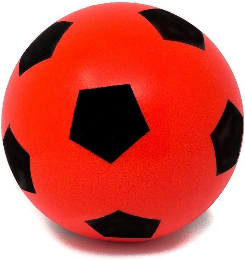 ni/ños y ni/ñas E-Deals Bolas de espuma suave de 17,5 cm para interiores y exteriores gran diversi/ón para adultos y ni/ños de espuma suave pelota de f/útbol