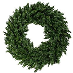 Plain artificial pine Christmas wreath