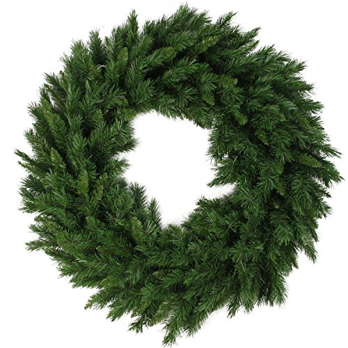 Northlight V03944 Lush Mixed Pine Artificial Christmas Wreath, 24'